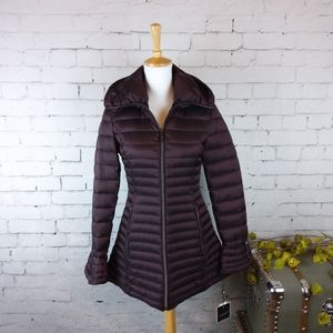 Laundry by Shelli Segal Quilted Coat Plum XS